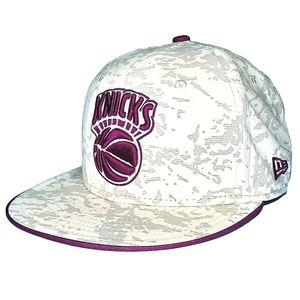 New York Knicks Arctic Camo Fitted Hat PURPLE
